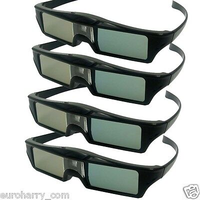4 x Aktive 3D Brille Glasses DLP-Link für Optama Acer BenQ NEC ViewSonic Sharp