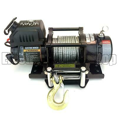 Warrior Ninja 4500lb 24v Electric Winch,Steel Rope, ATV,Utility,Trailer,Boat,New
