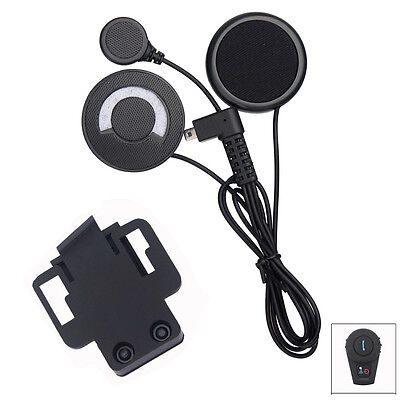 Helmet Intercom Headset + Clip for FDCVB 500m Motorcycle Bluetooth Communicator