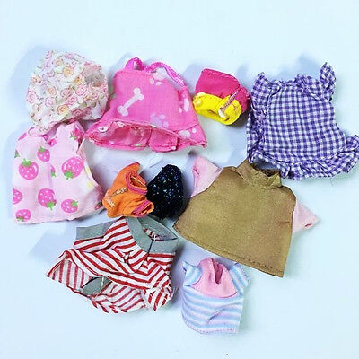 10pcs Dresses Clothes for Sylvanian Families Sheep CALICO CRITTER Rabbit Dolls