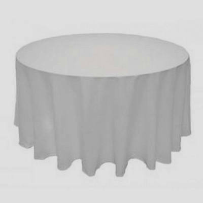 Round Tablecloth Table Covers Satin White for Home Banquet Wedding Party 90 inch