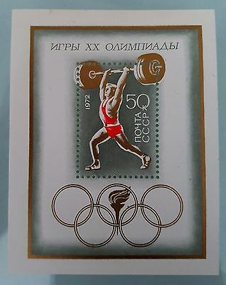 Russia USSR 1972 Sc # 4028 Souvenir Mini Sheet Olympic Mint MNH Stamp Collection