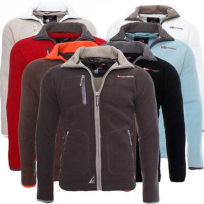 ef766751a0ed Geographical Norway Trekking Herren Fleece Jacke Hoodie Sweatjacke Sweater  NEU