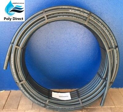 POLY PIPE (BLUELINE) Metric HIGH DENSITY PN12.5 50MM X 25MTR (Irrigation)