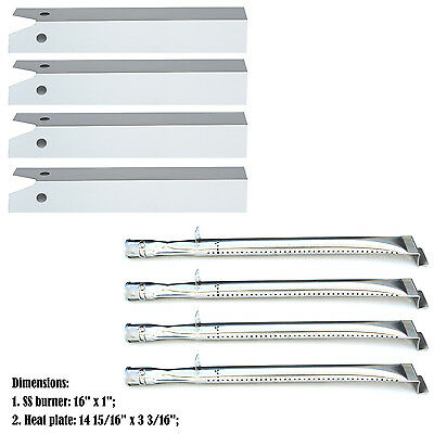 Replacement Repair Kit Burner & SS Heat Plate for Uniflame-st GBC750W Gas Grill