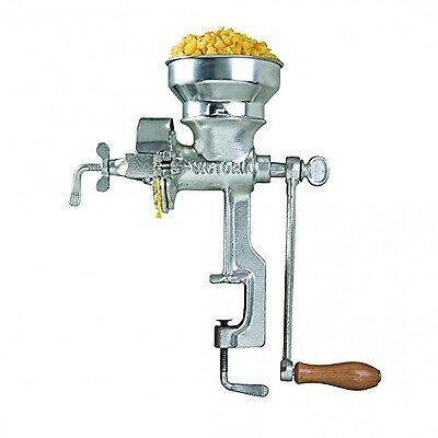 Victoria Professional Manual Grain Grinder - Table Clamp Corn Mill with Low H...