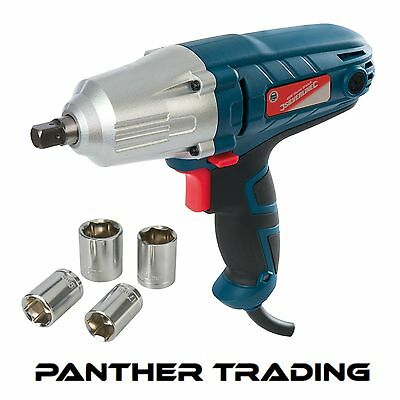 "Silverline 400W Electric 1/2"" Impact Wrench 230 Volts torque socket - 593128"
