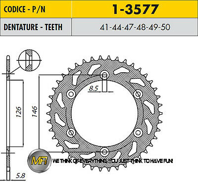 For Suzuki Rm 250 1993 93 Steel Rear Sprocket 50 Teeth Sunstar Transmission