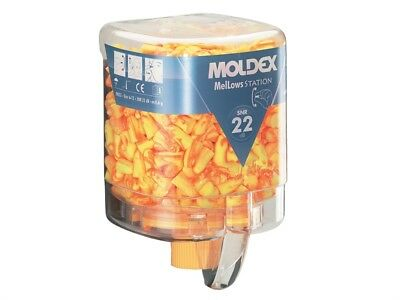 Moldex MOL7625 Disposable Foam Earplugs Mellows Station 250 Pairs SNR 22