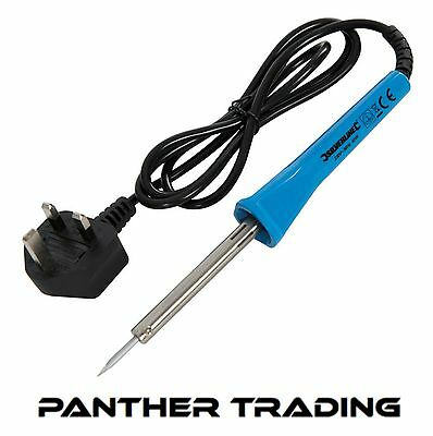 Silverline Soldering Iron 40W With Precision-Point Tip UK Plug Fitted - 263572