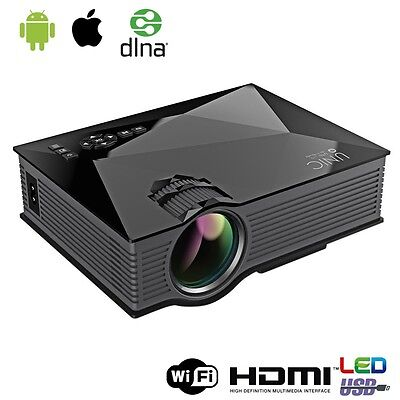 HD 1080P Mini Projector Smart LED Home Cinema With Airplay WiFi HDMI VGA USB SD
