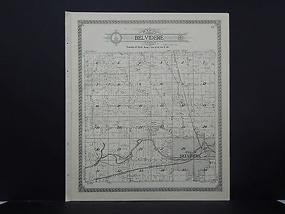 Illinois, Boone County Map, 1923 Belvidere Township O1#01
