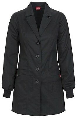 "Dickies 32"" Lab Coat 85400 BLKZ Black Free Shipping"