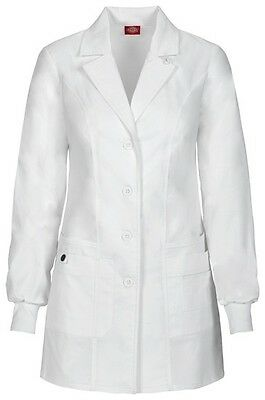 "Dickies 32"" Lab Coat 85400 DWHZ White Free Shipping"