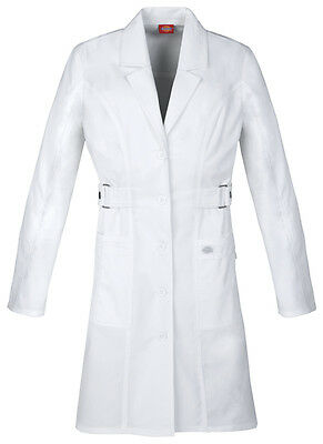 "Dickies GenFlex 36"" Lab Coat 82410 DWHZ White Free Shipping"