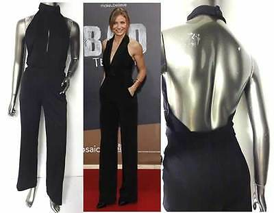 Miss Selfridge Retro Look Halterneck  Catsuit Size 8