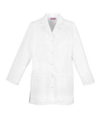 """Cherokee 32"""" Snap Front Lab Coat 1369 WHT White Free Shipping"""