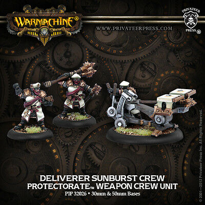 Warmachine: Protectorate of Menoth Deliverer Sunburst Crew Weapon Crew PIP 32026