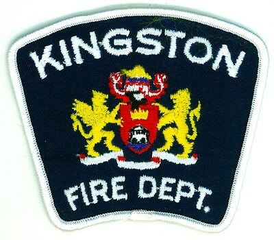 Vintage Kingston Fire Department Uniform Patch Ontario ON Canada #2