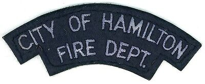 Vintage City of Hamilton Fire Department Uniform Patch Ontario ON Canada
