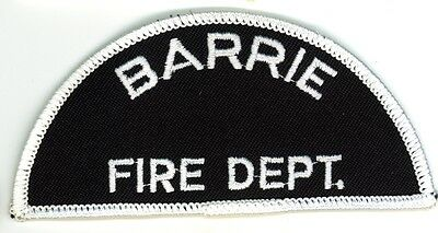 Vintage Barrie Fire Department Uniform Patch Ontario ON Canada #2