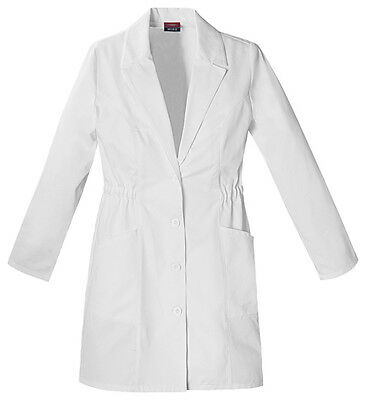 "Dickies 34"" Lab Coat 84402 DWHZ White Free Shipping"