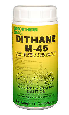 Southern AG DITHANE M-45 Mancozeb Fungicide Roses Vegetables Fruits Turf 6oz