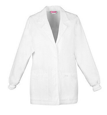 "Cherokee 30"" Lab Coat 1302 WHT White Free Shipping"