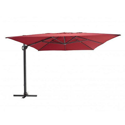 SHELTA SAVANNAH CANTILEVER UMBRELLA 3.3m Square 98% UV - VARIOUS COLOURS