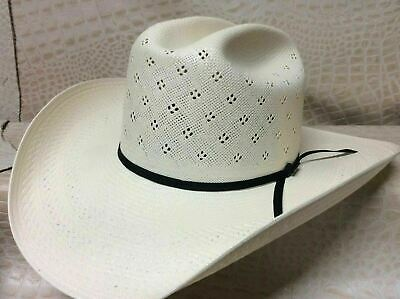Resistol 20X Tuff Hedeman Anuff Rodeo Western Cowboy Stetson Natural Straw  Hat 972c2f7715e0