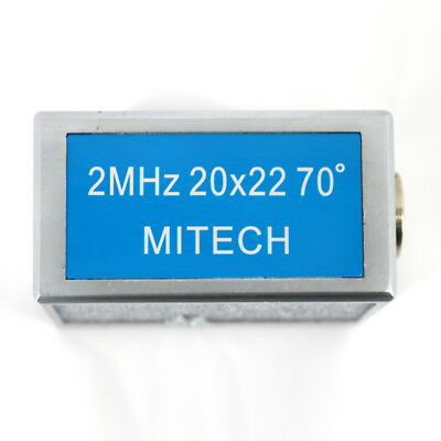 MITECH 70 Degree Angle Beam Probe Transducer 2MHz 20x22MM for Flaw Detector