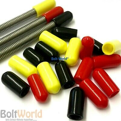 Rod Bar Studding Stud Screws Bolts Cable Safety Vinyl Plastic Thread Cover Caps