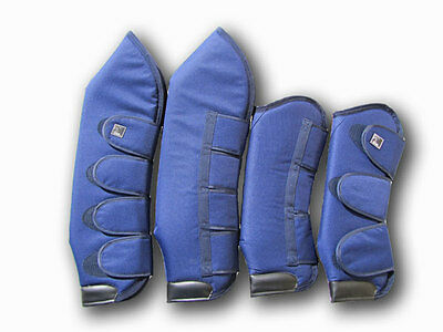 Deluxe Horse Float Boots Set of 4 Blue Cob or Full Size
