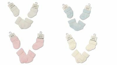Baby Socks Blue Pink Cream White