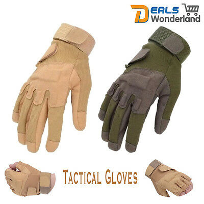 Military Tactical Hard Knuckle Full Finger Gloves Airsoft Winter Hunting Cycling