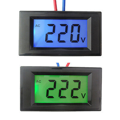 AC 80V-500V Digital Voltmeter Panel Gauge Voltage Tester Backlight LCD Display