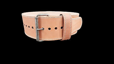 Powerlifting Treated Leather Single Prong Powerbelt - pioneer weight inzer titan
