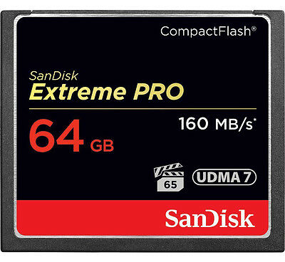 SanDisk 64GB Extreme PRO Compact Flash Memory Card 1067X  UDMA7 160MB/s 4K VIDEO