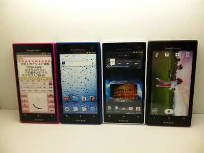 NTT-docomo SO-03D Xperia SONY-ERICSSON Non-working Display Phone 4 color set