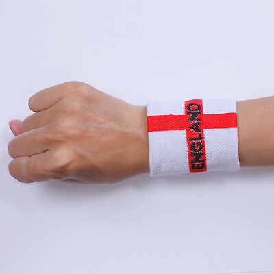sweat band sweatbands wristbands wristband England sweatbands 1 pair TWO PIECES