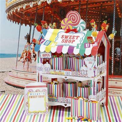 STREET STALLS Multicoloured Retro 2 Tier Sweet Shop Stand Great for Wedding or P