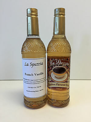 La Spezzia French Vanilla & Hazelnut Flavoring Syrup (2 bottles/750 ml)