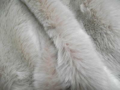 Super Luxury Faux Fur Fabric Material - Pink Frost