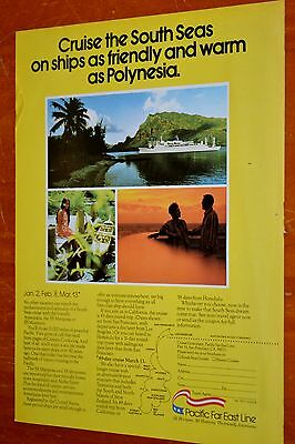 1976 Pacific Far East Line Cruise Ship To The South Seas Ad - Retro Vintage 70S