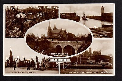 Buckie - multi view - real photographic postcard