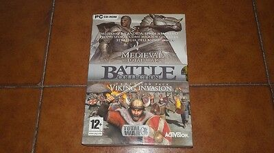 Game Gioco Pc Cd - Rom Medieval Total War + Expansion Viking Invasion Italiano