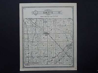 Illinois, Lee County Map, 1921 Township of Sublette O1#36