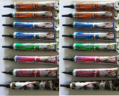 12x multi color colored HENNA paste tattoo kit body art temporary tattoo DIY