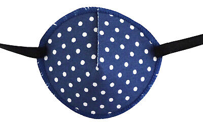 Medical Eye Patch, SPOTTY BLUE, Soft and Washable