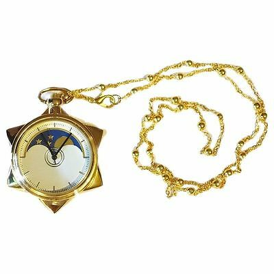 Cosplay Anime Sailor Moon 20th Anniversary Pocket Watch Star Necklace Pendant